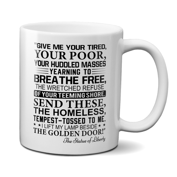 statue of liberty poem mug statue of liberty quote mug