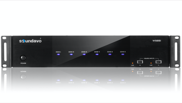 WS66i (AMP Only) Whole-Home Audio Distribution Network Controller Matrix with Streamer & App Control