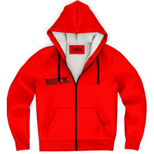 Load image into Gallery viewer, Branded Microfleece Zip-Up Hoodie (Red)