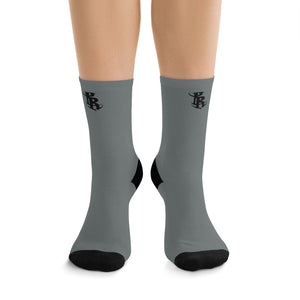 PR Logo Socks - Dark Gray