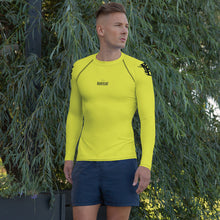 Load image into Gallery viewer, Men's Rash Guard - Electric Yellow