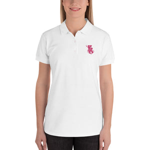 Embroidered Women's PR Logo Polo Shirt