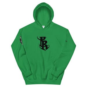 Black PR Logo Hooded Sweatshirts