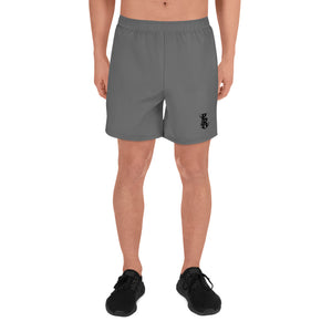 PR Logo Men's Athletic Long Shorts - Grey