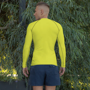 Men's Rash Guard - Electric Yellow