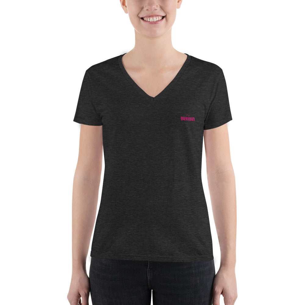 Women's Fashion Deep V-neck Tee