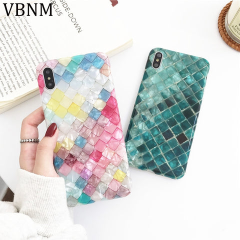 Luxury Colored Fish Scales Case For iPhone