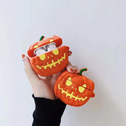 Halloween Case With Lanyard Pumpkin for Airpods
