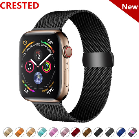 CRESTED Stainless Steel Strap Band For Apple Watch