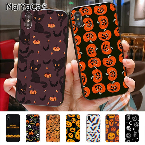 Halloween Bat Witch Boo Phone Case for Apple iPhone