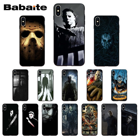 Halloween Horror Movie Silicone Phone Case for iPhone