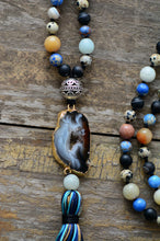 Load image into Gallery viewer, Mala Agate Natural Stone Necklace