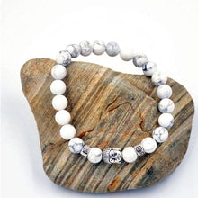 Load image into Gallery viewer, Howlite Buddha Bracelet