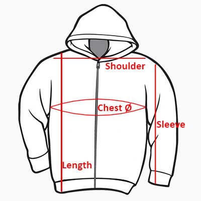 WLS HOW TO MEASURE Hoodie