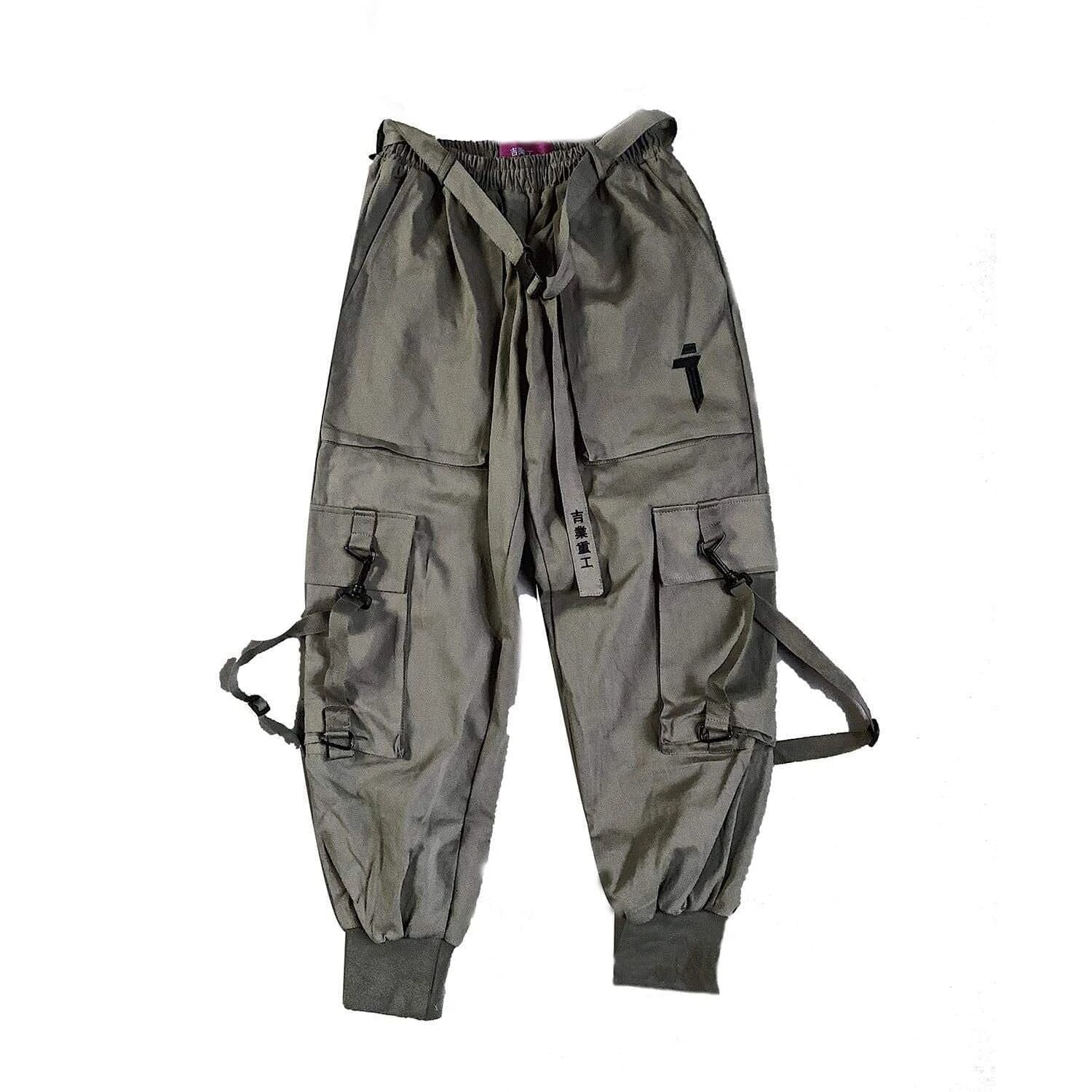 "WLS ""Mechanical style"" Multi-Pocket Pants"