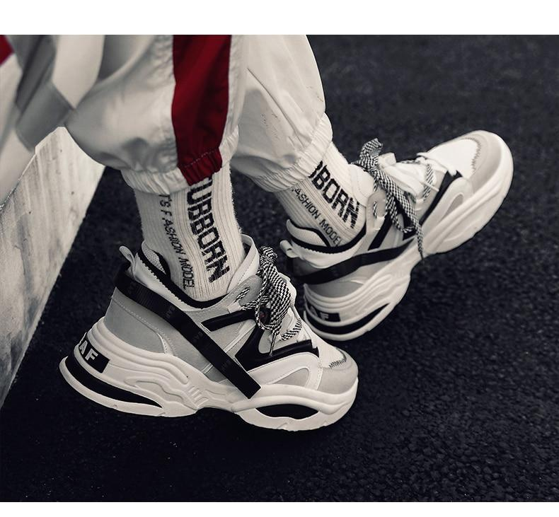 Phoenix Wave Runner Sneakers - White Stripes