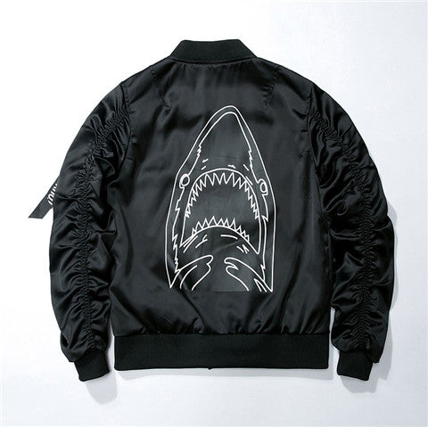"""Shark"" Bomber Jacket"
