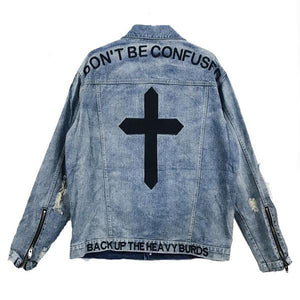"""Confused"" Denim Jacket"