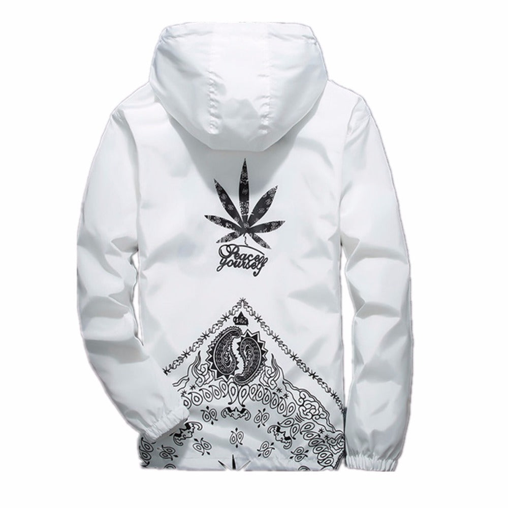 """Peace yourself"" Windbreaker Jacket"