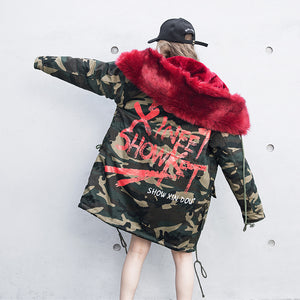 """Love Camo"" Winter Parka"