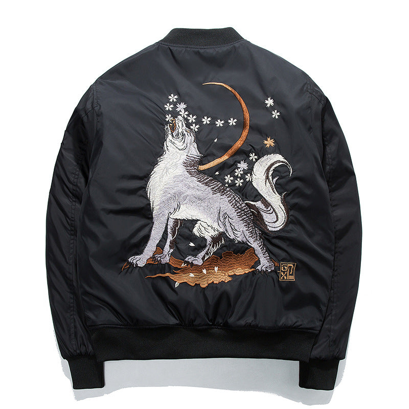 """Roar"" Embroidered Bomber Jacket"