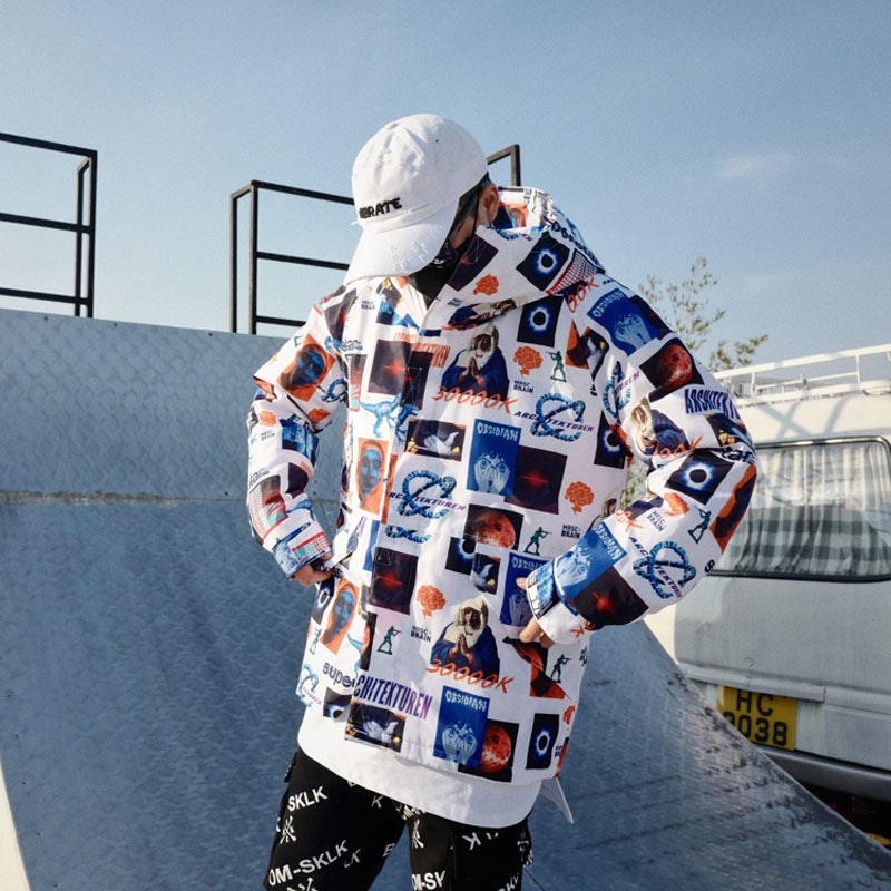 """Frames"" Windbreaker Jacket"