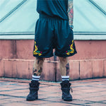 """Dope"" Embroidered Shorts"