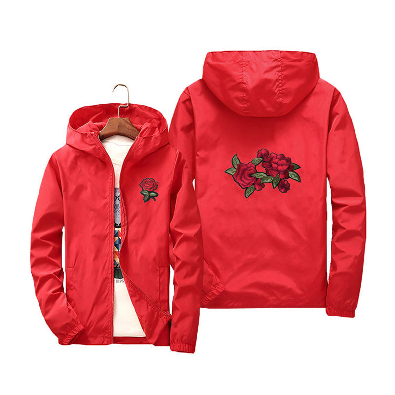 """Double Rose"" Windbreaker Jacket"