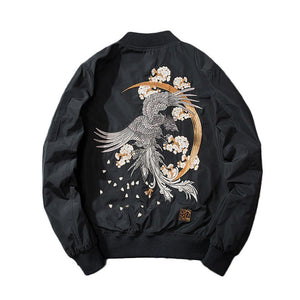 """Devil"" Embroidered Bomber Jacket"