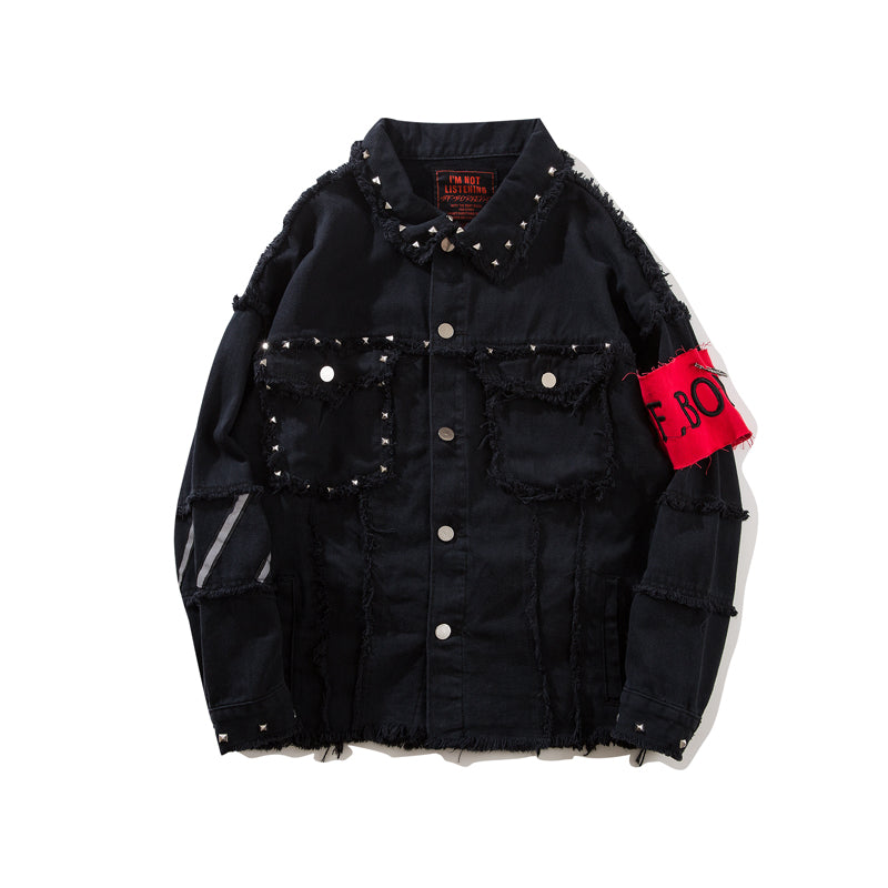 """Obey"" Denim Jacket"