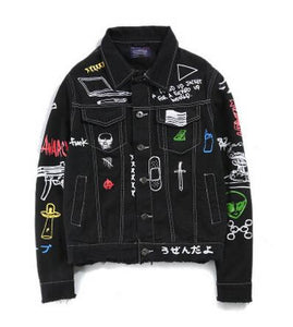 """Fcked Up"" Denim Jacket"