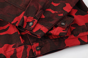 """Red Army"" Denim Jacket"