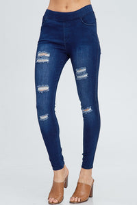 Ripped Denim Jeggings