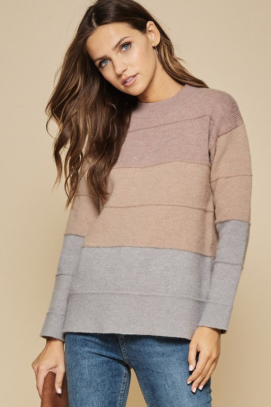 Ombre Colorblock Sweater