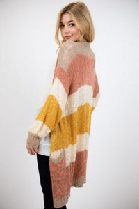 Lightweight Colorblock Duster Cardigan