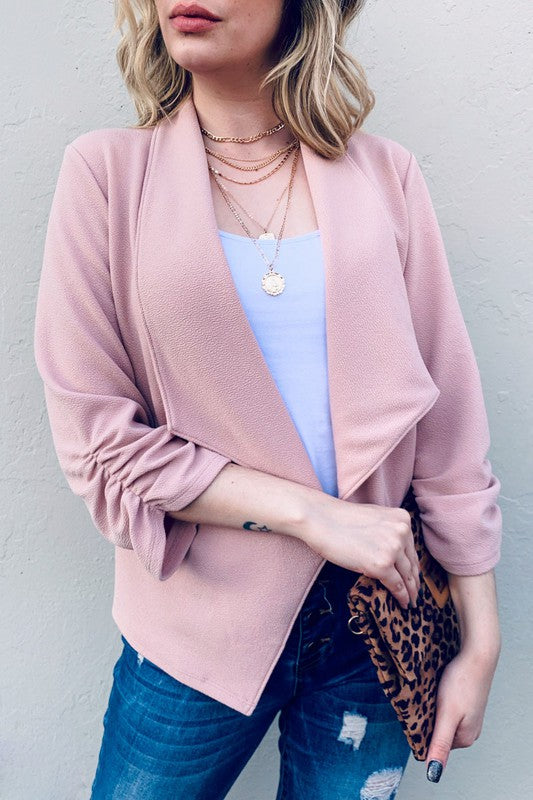 Cool as Ice Blazer - blush