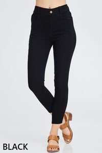 Cotton Jeggings - black