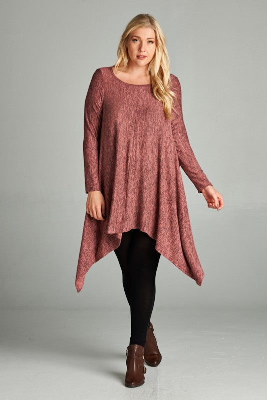 Asymmetrical Trapeze Top - mauve
