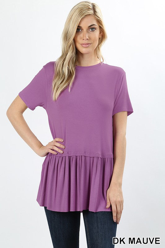 Ruffle Bottom Top - varied colors