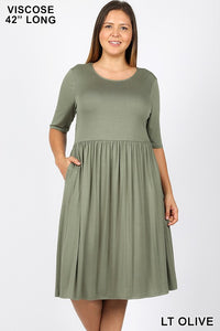 Back to Basics Dress - Light Olive