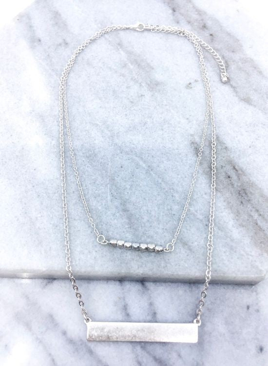 Necklace Bar Layer - silver