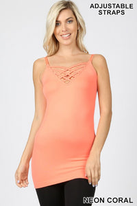 Criss-cross Layering Top - Coral
