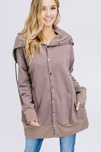Button-up Sweatshirt
