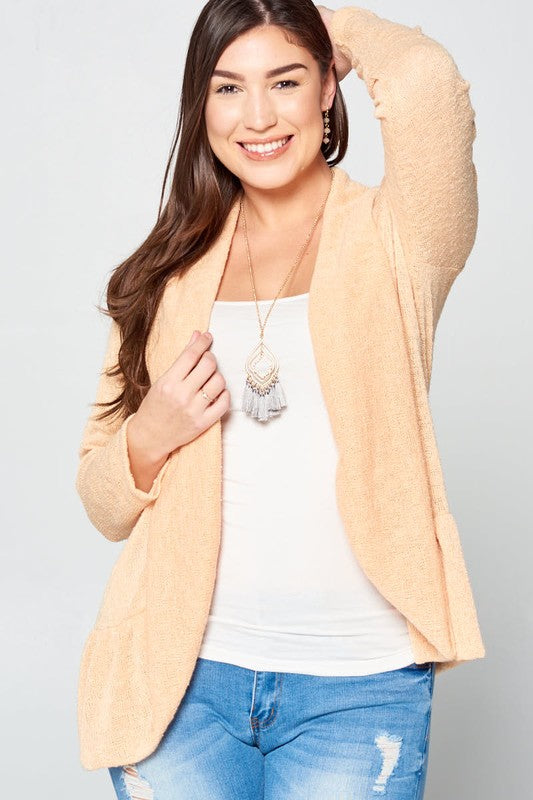 Lightweight Blazer Cardigan - yellow