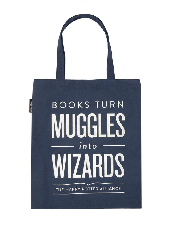 Tote Bag -Books Turn Muggles into Wizards