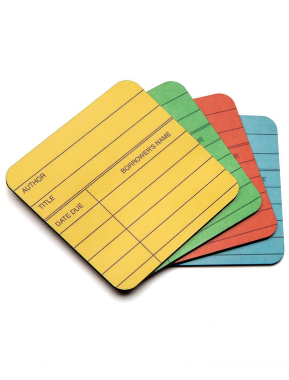 Library Card - Coaster Set