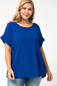 Royal Top with Rolled Sleeves