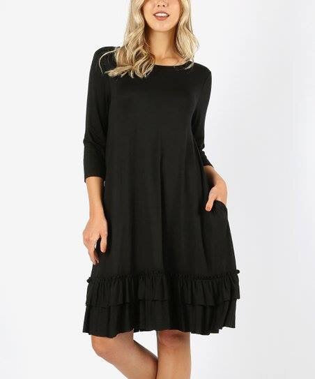 Ruffle Love Dress - black