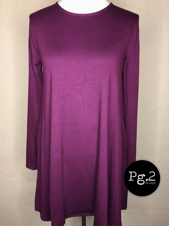 Swing Tunic - plum