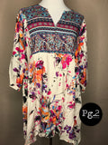 The Brontë Dress/Tunic - ivory/floral